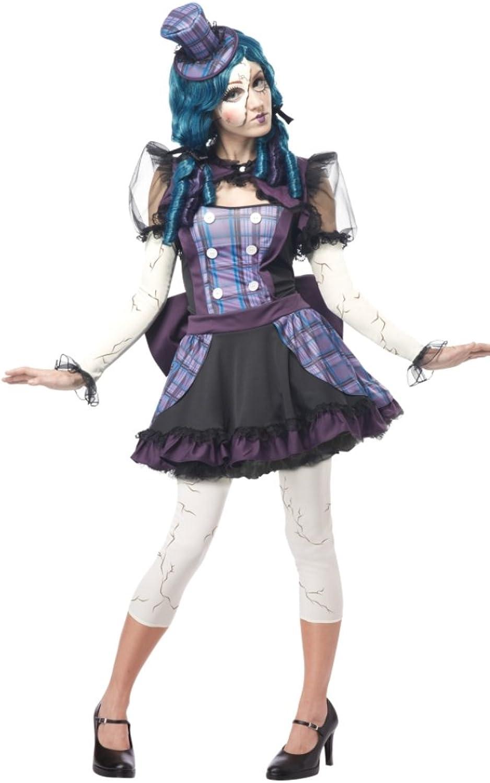 Adult Broken Doll Costume Dress size MEDIUM
