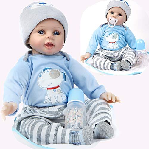 ZIYIUI 22 Pulgadas 55cm Reborn Muñecas Bebé Vinilo Simulación Silicona Suave Calidad Realista Hechas a Mano bebé Muñecas para niños Mayores de 3 años, certificación EN71