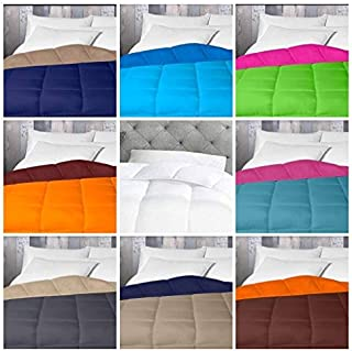 Energy Colors Textil - Hogar - Tokio - Relleno Nórdico 350 gr Reversible Liso Tacto Plumón Microfibra Otoño - Invierno (Morado, Cama 105 (180 x 220 cm))