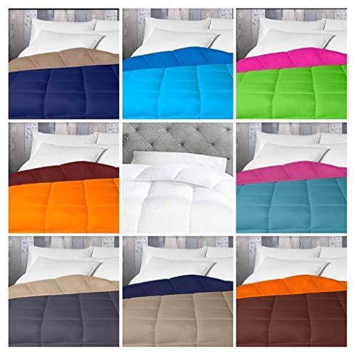 Energy Colors Textil - Hogar Relleno, Edredón nórdico Bicolor/Reversible 350 gr (Morado - Verde, Cama 90)