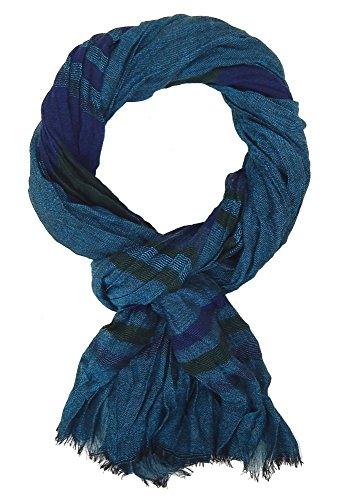 Ella Jonte Écharpes foulard d'homme élégant et tendance de la dernière collection by Casual-style bleu vert