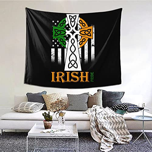 Celtic Cross Irish Tapestry Home Decoration Wall Mural for Hanging Children Bedroom Living Room Dormitory Decoration 60*51inch