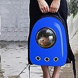 HEHUANG Portátil Astronauta Mascota Gato Perro Cachorro Portador Bolsa Espacial Mochila de Viaje Cápsula Bolsa para Gatos Pequeños Cachorro Jaula Al Aire Libre, Azul