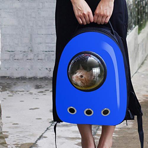 HEHUANG Astronauta Portatile Pet Cat Dog Puppy Carrier Space Bag Zaino da Viaggio Capsule Bag per Piccoli Gatti Gabbia Esterna per Cuccioli, Blu