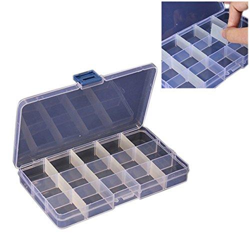 fitTek Kcompacte Bewaarbox met 15 Vakken, Van kunststof, variabel