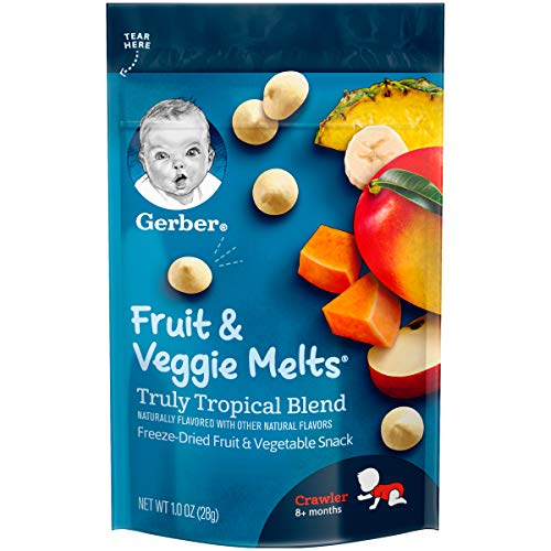 Gerber Fruit and Veggie Melts, Truly Tropical Blend, 1 Ounce (Pack of 7)