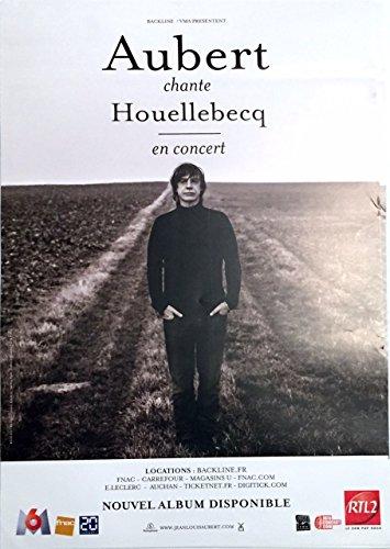 Jean-Louis Aubert - Chante Houellebecq - 40X60 Cm Affiche / Poster