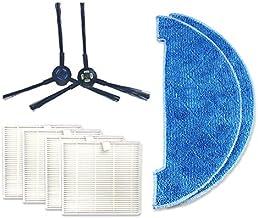 Household Articles XI275 Pair I258 Side Brush + 4 PCS I206 Filter + 2 PCS I262 Cleaning Rag for ILIFE V8S Household Articles