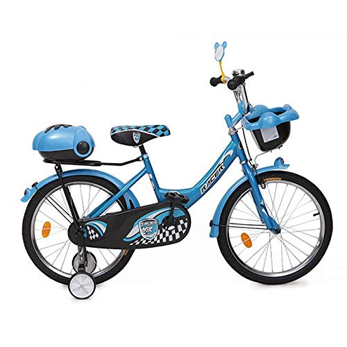 Moni Trade Ltd. Byox Kinderfahrrad 16 Zoll 1682 blau, Stützräder, 2 Körbe, Klingel, verstellbar
