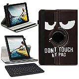 NAmobile Tablet Tastatur Schutzhülle kompatibel für Medion Lifetab P10710 P10612 P10610 P10603 Hülle Keyboard Tasche QWERTZ Drehbar Bluetooth Universal Hülle, Farben:Motiv 5