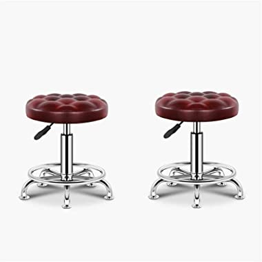 Adjustable Swivel Barstool Counter Stools Outdoor Bar Stools Set of 2, Patio Height Chairs, Modern Garden Furniture Bar Dinin