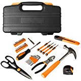 39 Piece Tool Box Kit - Small Basic Home Tool Set - Great for College Students, Household Use & More
