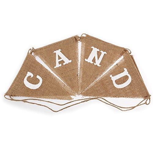 ROSENICE 8pcs CANDY BAR Parti Bannière Triangle Bunting Pennant Mariage Anniversaire Fête Fournitures Maison Décoration