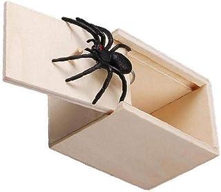 ドッキリ 飛び出す びっくり箱 蜘蛛 いたずらグッズ ネズミ サソリ おもしろ パーティーグッズ 恐怖ボックス 悪ふざけ 木箱 動物 恐怖 ジョークおもちゃ 誕生日 クリスマス お歳暮 ギフト 冗談 玩具