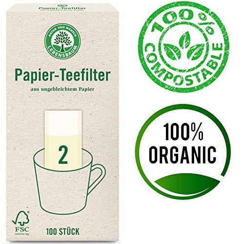 Lebensbaum Papier-Teefilter Gr. 2 (100 Stück), 12Er Pack (12 X ) 2000 G