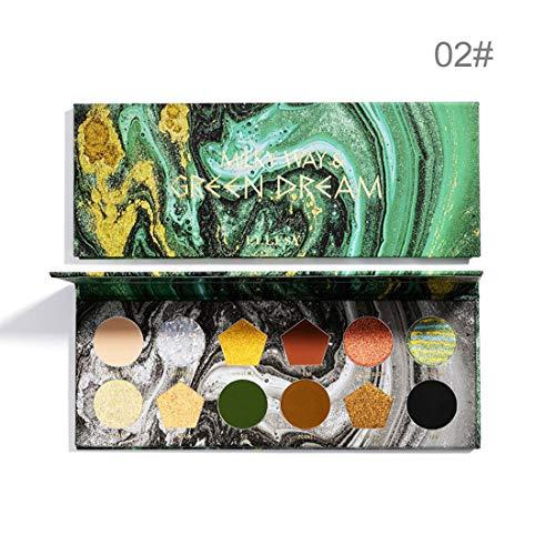 UCANBE BELLE 12 gebackener Lidschatten Farbe Shimmer Lidschatten-Palette Glitter Big Flash-Makeup Nude Matte Schatten wasserdichte kosmetische,#2