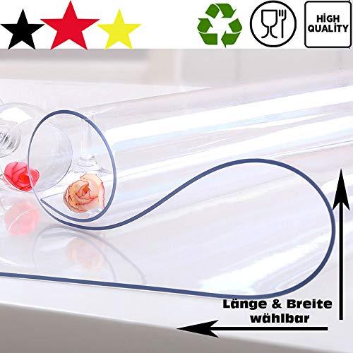 Tischschutz Folie Folienschutz Tischbedeckung Farblos Transparent Schutzmatte Tischdecke MASTER Farbe Breite: 80cm, Größe Länge: 50cm