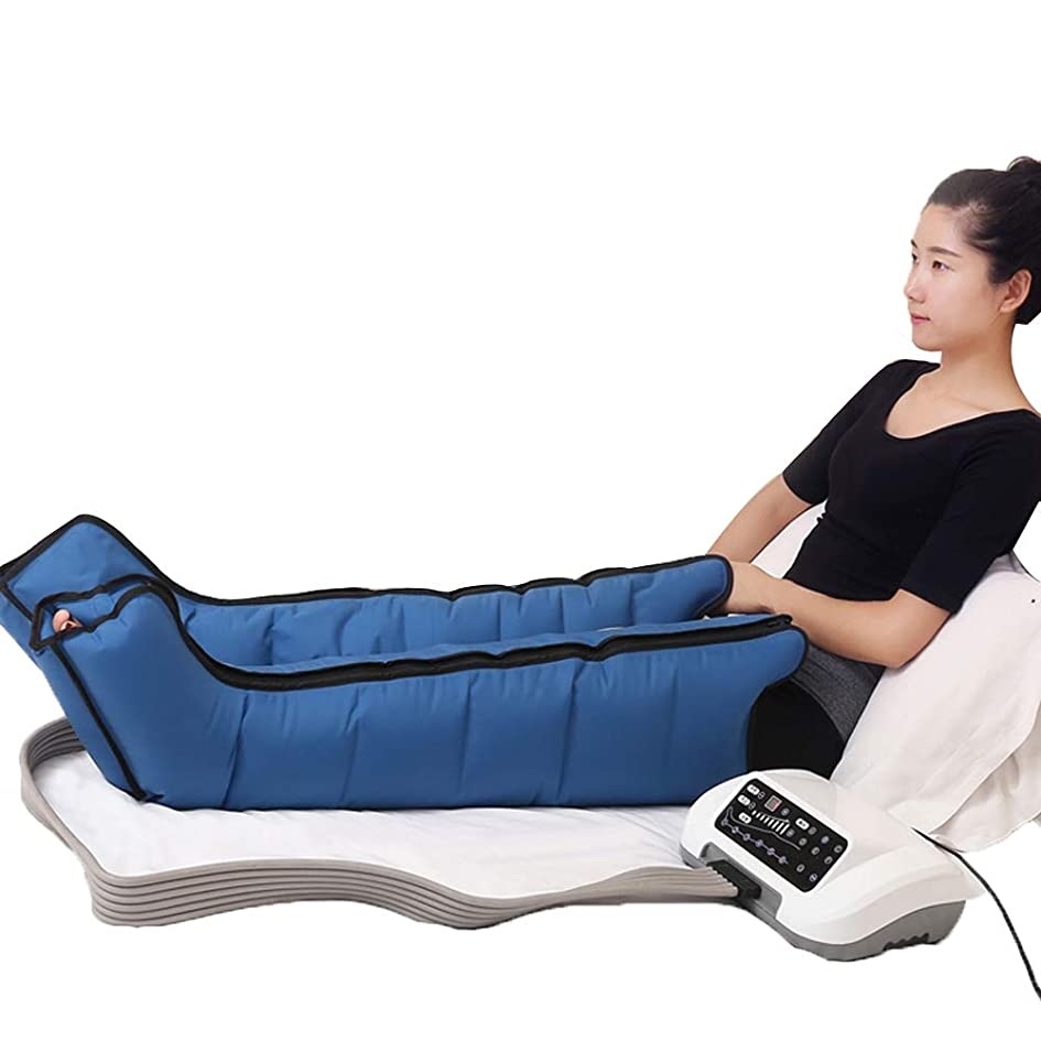 正気エロチッククランシーマッサージ機の空気圧縮、 レッグフットマッサージャー 6つのエアクッション+ 6つのプログラム 古い冷たい脚の男性と女性の関節炎の膝脚 ダブルレッグ+ダブル上肢+ウエスト