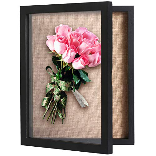 C&AHOME Shadow Boxes, Shadow Box Frame Display 11' x 14', Wood Wall Display Case with Glass Frame,...