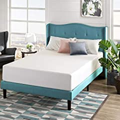 Conforming Green Tea Memory Foam comfort and pressure relieving support for a better night's sleep, foam is CertiPUR US Certified for durability, performance, and content 3 inches Memory Foam, 2 inches Comfort Foam, 7 inches high-density base support...
