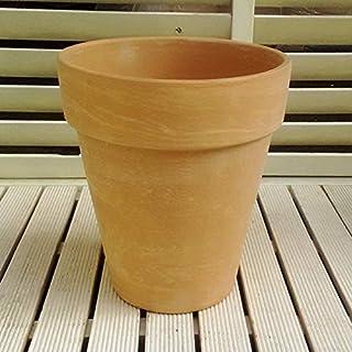 植木鉢 イタリア製 デュオホワイトトールポット (26cm) 陶器製 デローマ社 素焼き鉢 園芸 ガーデニング バラ鉢におススメ *Italian Terracotta*deroma