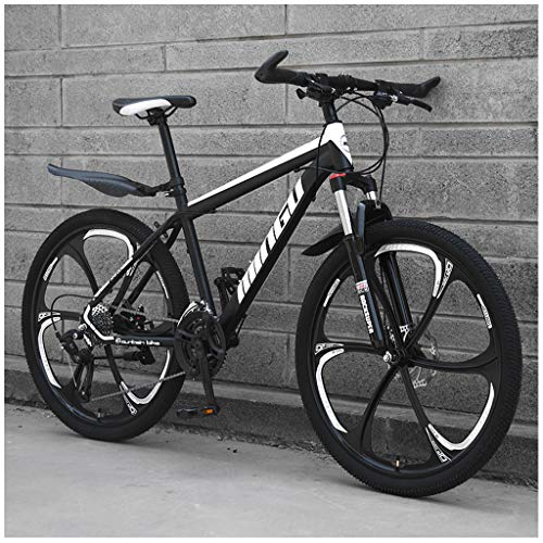 ZDZXC 21 Velocidades 24 Pulgadas Bicicleta De Montaña Bicicleta De Montaña Hombre Mojadura Proceso De Pintura Electrostática Rueda Rompevientos Material De Acero Al Carbono De La Carrocería