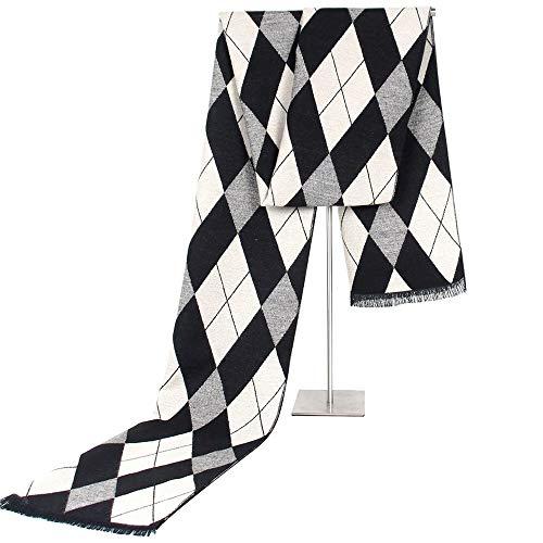 L.J.JZDY Sjaals Plaid Sjaal Man Winter Merk Sjaal Mannen Mode Ontwerper Sjaal Bussiness Casual Sjaals Man Warm Sjaal Sjaal voor Mannen