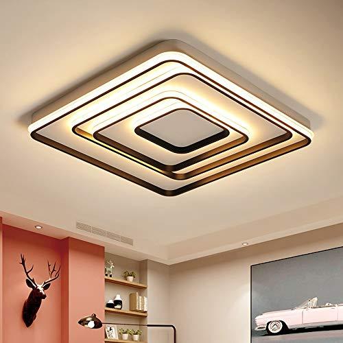 5151BuyWorld Lámpara New Modern LED De Luz De Techo Negro/Blanco De La Sala De Estar Dormitorio Principal Cubierta De Iluminación Del Accesorio Del Techo Ac110V Ac220V Calidad Superior {}