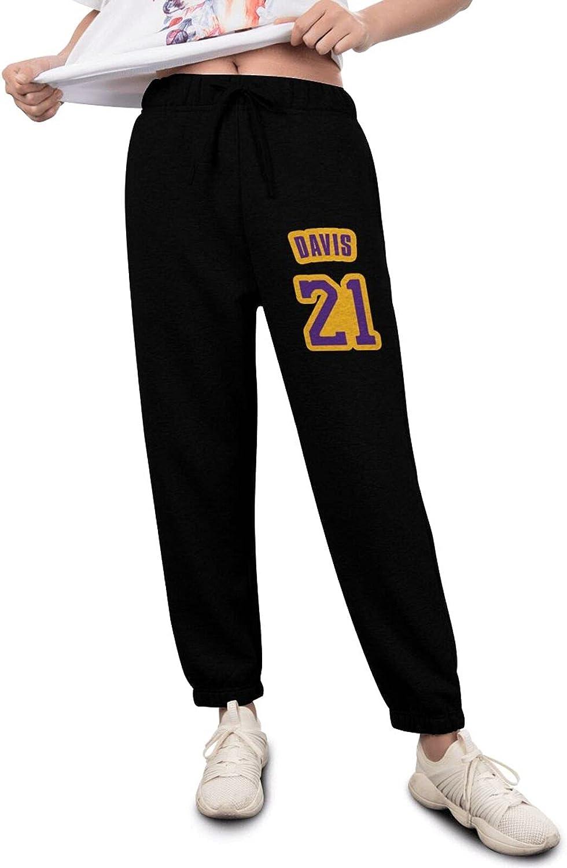 Y.A.G Women's favorite New popularity Sweatpants Anthony Davis Elastic Basketball Waist