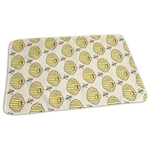 Bijenkorf Honing Bijen Baby Herbruikbare veranderen Pad Cover Draagbare Reizen veranderen Mat 27.5x19.7 inch
