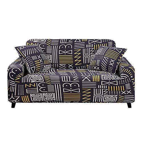 WXQY Funda de sofá de Esquina, Funda de sofá de Sala de Estar, Funda de sofá de combinación elástica y elástica, en Forma de L Necesidad de Comprar 2 Piezas A5 de 2 plazas