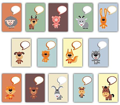 the lazy panda card company Kinder Postkarten Set zum Selbst Beschriften Tiere (28)