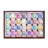Decoración Adornos De Uñas Piedras 3D Pedrería Cristales De Uñas Diamantes Rhinestones Nail Glitter Para Arte De Uñas Gel 28 Cajitas De Estilos Colores Mezclados (6)