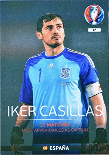 carte PANINI EURO 2016 #17 Iker Casillas