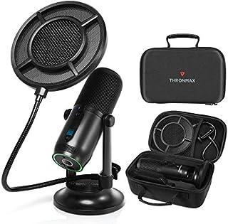 THRONMAX Mdrill Professional USB Condenser Plug & Play Microphone Kit BLACK 48 khz 16 Bit (Mic Kit)