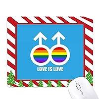 愛は愛 ゴムクリスマスキャンディマウスパッド