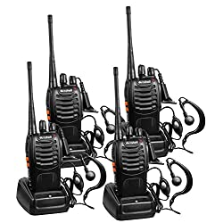 Arcshell Rechargeable Long Range Two-Way Radios with Earpiece...