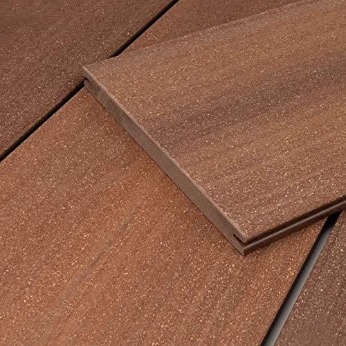 HORI® WPC Terrassendielen-Komplettset I Massivdiele Sylt I braun I Fläche: Muster I Dielenlänge:ca. 30 cm
