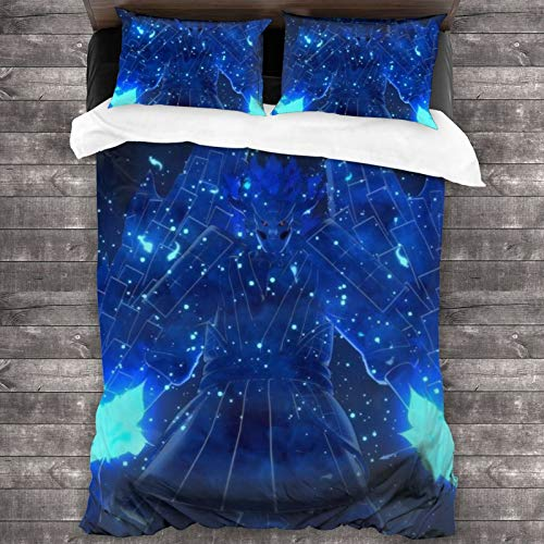 ESCFLAG Anime Naruto Susanoo Three-piece Luxurious And Comfortable Bedding Soft Microfiber One Quilt Cover 86 X 70 In + Two Pillowcases 20 X 30 In