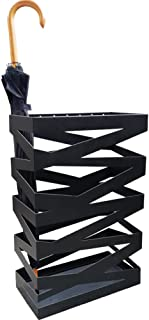 Yxsd Umbrella Stand with Drip Tray,Umbrella Holder Patio,Square 402060 cm(LWH) (Color : Black)
