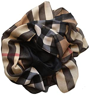 JERLA Women's Cotton Scarves Lady Light Soft Fashion Solid Scarf Wrap Shawl plaid scarf