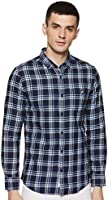 Amazon Brand - House & Shields Men's Checkered Regular fit Casual Shirt