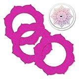 MySweetStitch | Freestyle Libre toppe adesive impermeabili per protezione, traspirante e delicato sulla pelle incl set di sticker con foro per sensore (3+1) Mandala - Mandala
