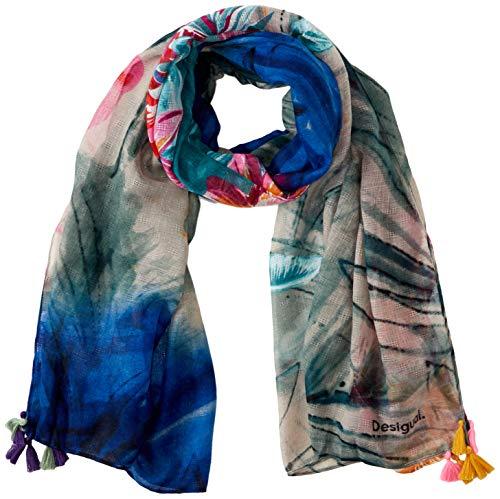 Desigual Damen FOUL_MIDNIGHT Schal, Blau (Navy 5000), One Size (Herstellergröße: U)