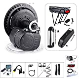 48V 500W Torque Sensored Electric Bicycle Motor Kit Mid Drive DIY Ebike Conversion Kit with Display and Battery 48V 13Ah