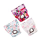 CuteBone Dog Diapers Female Puppy Pants Washable for Untrained Puppies, Dogs in Heat, Doggie Menstrual and Incontinence D21L