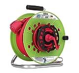 As Schwabe 12539 - Carrete alargador de cable (285 mm, 50 m, H05RR-F 3G1.5, IP44 rojo, uso en el exterior)