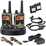 Midland X-TALKER 36 Channel GMRS Two-Way Radio - Extended Range Walkie Talkie, 121 Privacy Codes, NOAA Weather Scan + Alert (Mossy Oak Camo, 2-Pack)