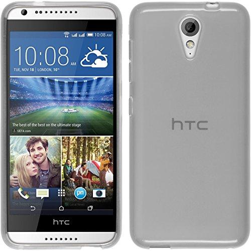 PhoneNatic Funda de Silicona Compatible con HTC Desire 620 - Transparente Blanco...