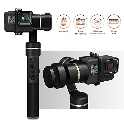 Feiyu G5 V2 Updated 3 Axis Splash Proof Handheld Gimbal for GoPro Hero 7/6 /5/4 /3 /Session, Yi Cam 4K, AEE Action Cameras of Similar Size